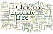 Word collage of Christmas words.