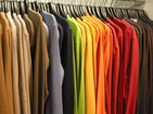 Picture of clothes in closet