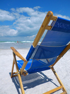 Picture of a beach chair on the beach.