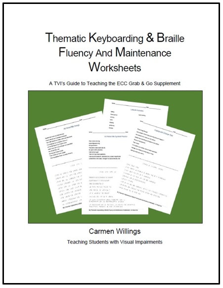 Thematic Keyboarding & Braille Fluency and Maintenance Worksheets