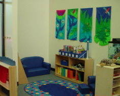 Picture of organized reading area