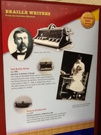 Picture of braille writer poster