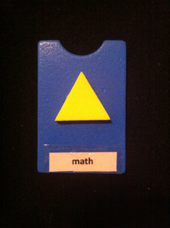 math label with foam triangle glued to card