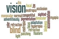 Word art of words related to vision.