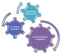 Gears labeled with vision specific evaluations.