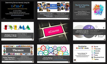 Collage of cover pages of available webinars