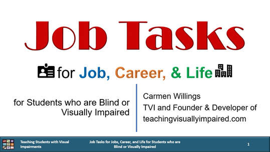 Cover of Job Tasks for Job Career and Life with a name badge icon and a city scape icon