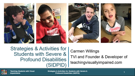 Cover of Strategies & Activities for Students with Severe and Profound Disabilities with pictures of 4 students