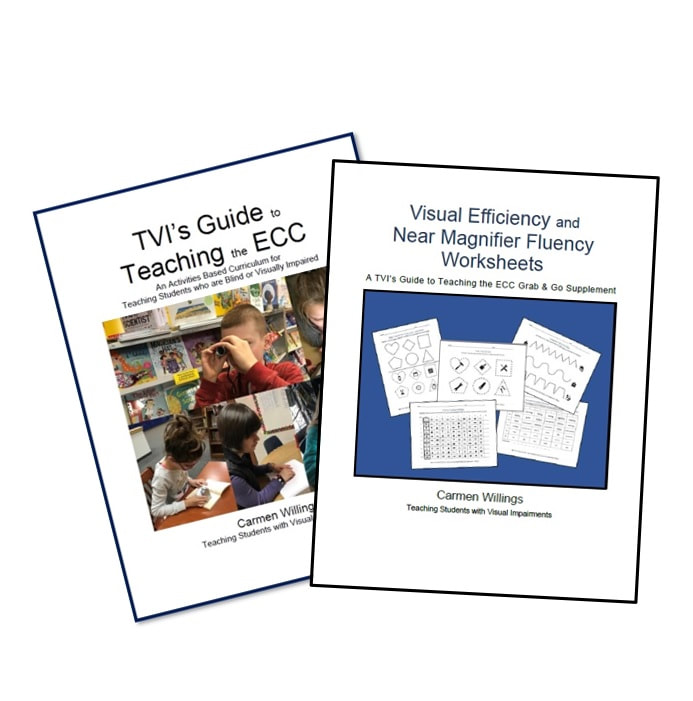 TVI Guide to the ECC and Visual Motor & Magnifier ECC Grab & Go Bundle