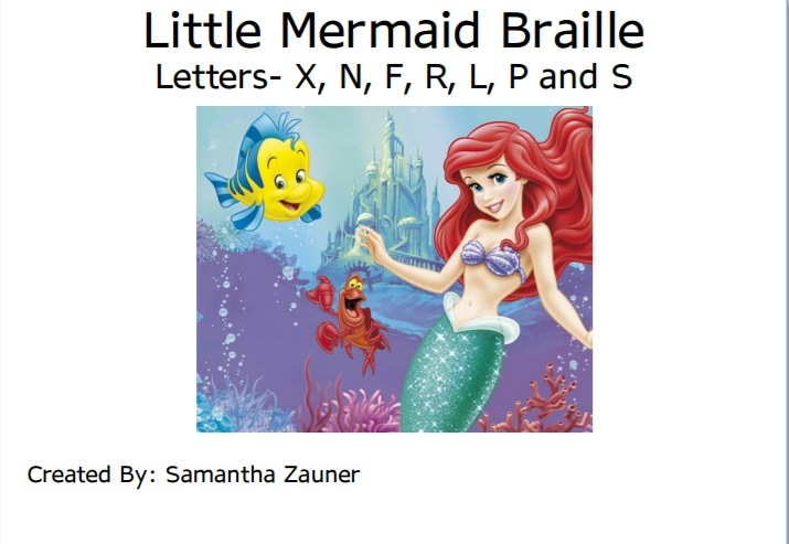 Little Mermaid Braille Game
