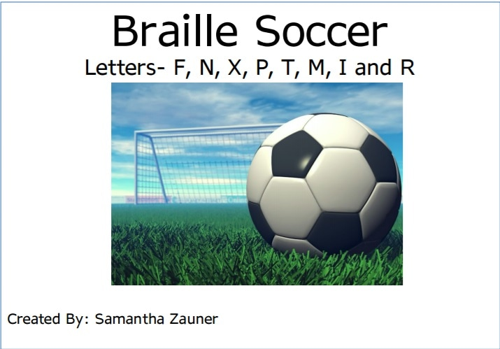 Braille Soccer Game